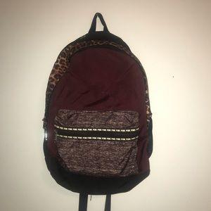 VS Pink leopard print backpack.